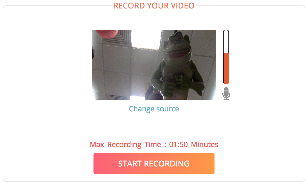 Share a link with others to record video